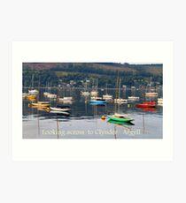 Looking towards Clynder Argyll Art Print