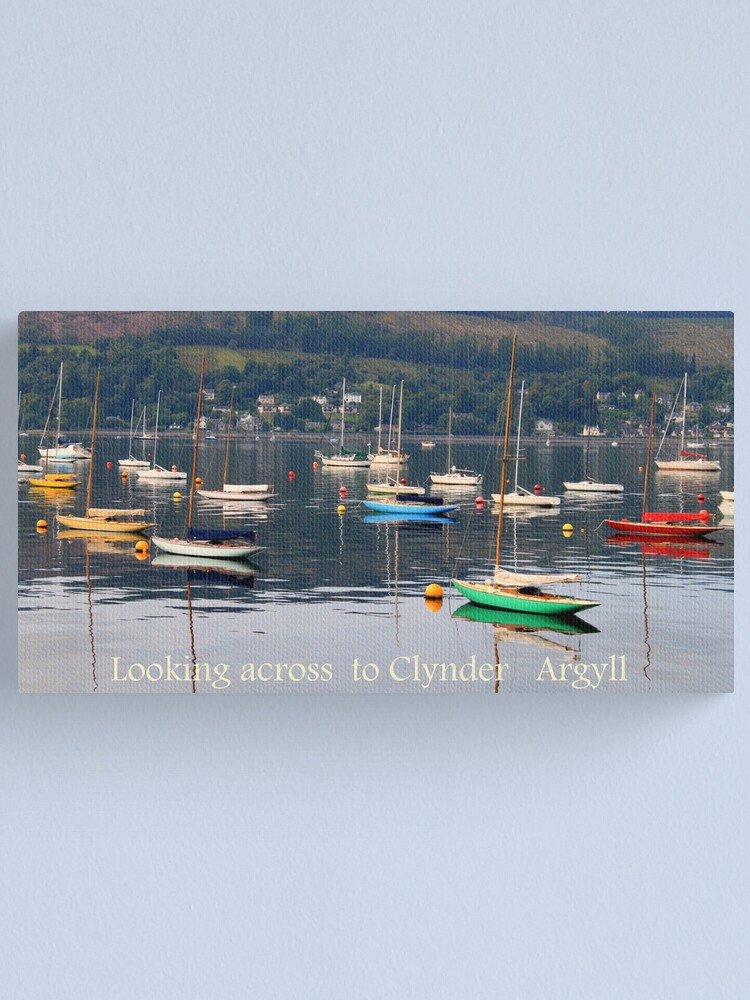 Alternate view of Looking towards Clynder Argyll Canvas Print