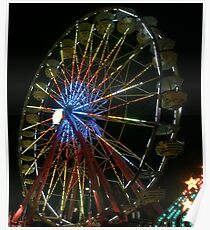 nighttime ferris wheel Poster