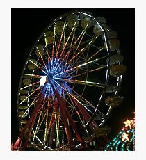 nighttime ferris wheel Photographic Print