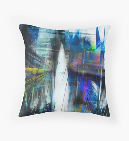 Sailing Free inside The City Throw Pillow