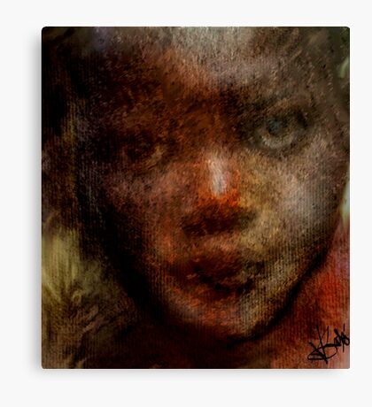 Face in Question Canvas Print