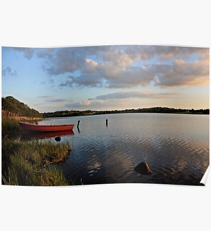 Boat at Rest Brackley Lake Poster