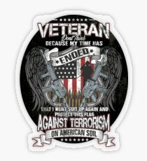 Veteran Protect This Flag Against Terrorism on American Soil  Transparent Sticker