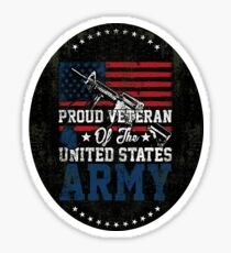 Proud Veteran of United States Army Glossy Sticker