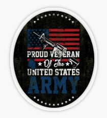 Proud Veteran of United States Army Transparent Sticker