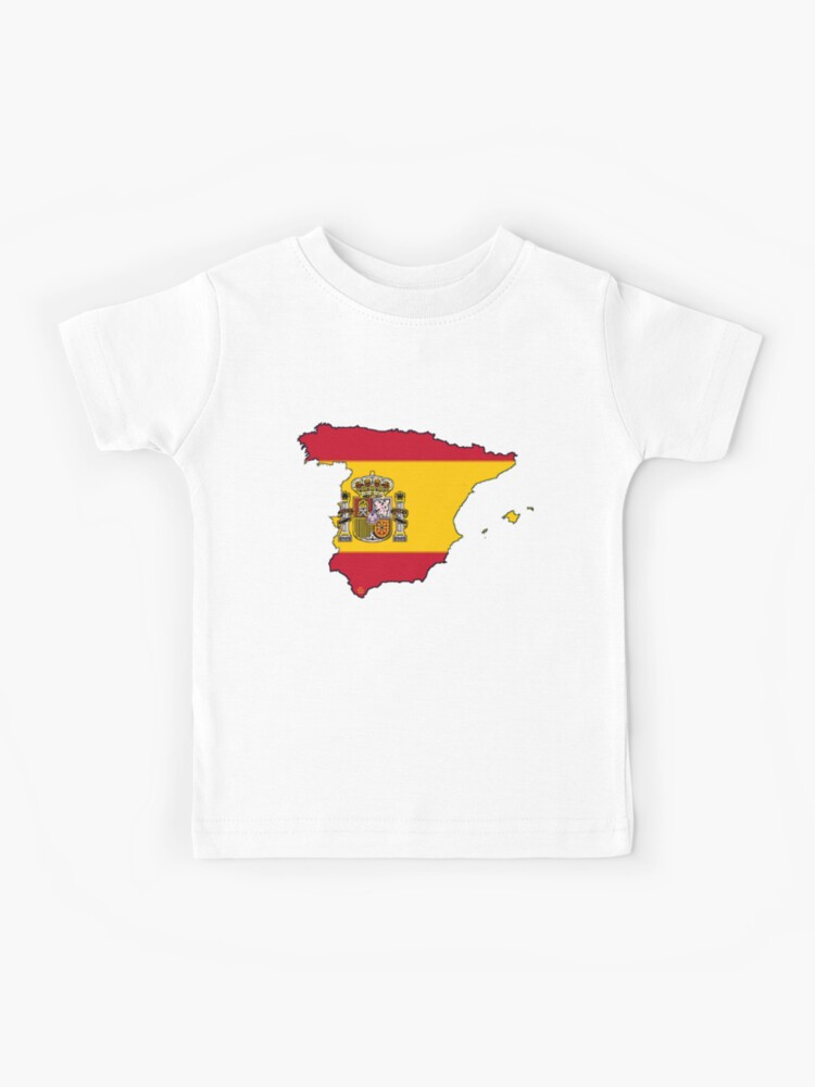 Kids Map Of Spain.Spain Map With Spanish Flag Kids T Shirt