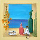 Ocean View & Perfume Bottles by Allegretto
