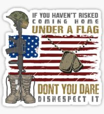 Patriotic Do not Disrespect the Flag  Glossy Sticker
