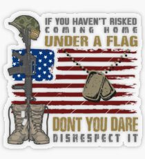 Patriotic Do not Disrespect the Flag  Transparent Sticker