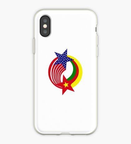 Cameroon American Multinational Patriot Flag Series iPhone Case