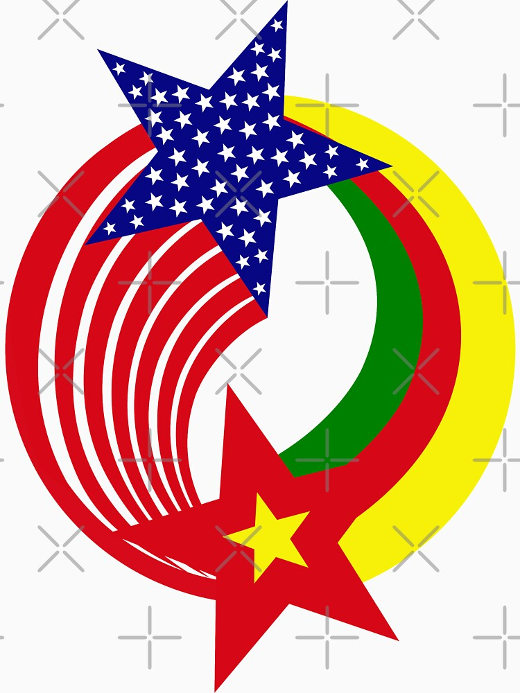 Cameroon American Multinational Patriot Flag Series by carbonfibreme