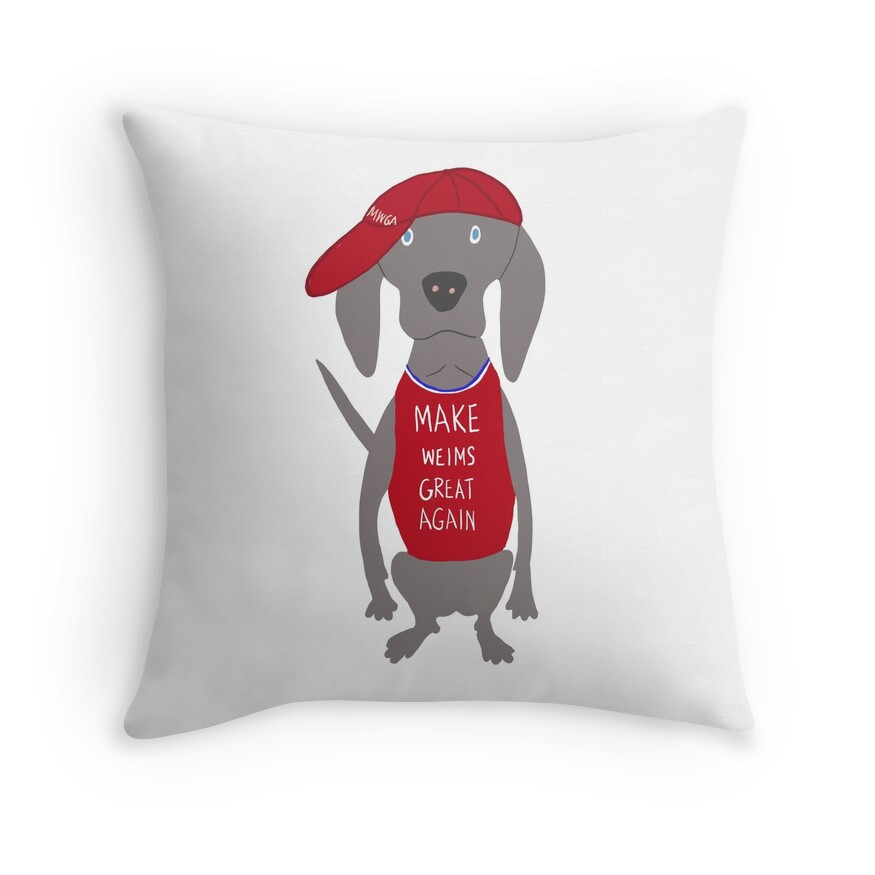 Make Weims Great Again Grey Ghost Weimaraner Dog Hand-painted Pet Drawing