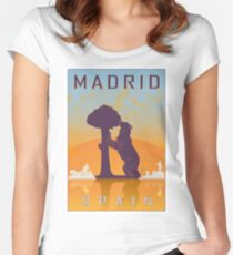 Madrid vintage poster Women's Fitted Scoop T-Shirt