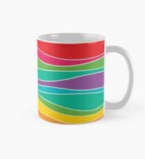 Taza Retro Mod Rainbow Waves