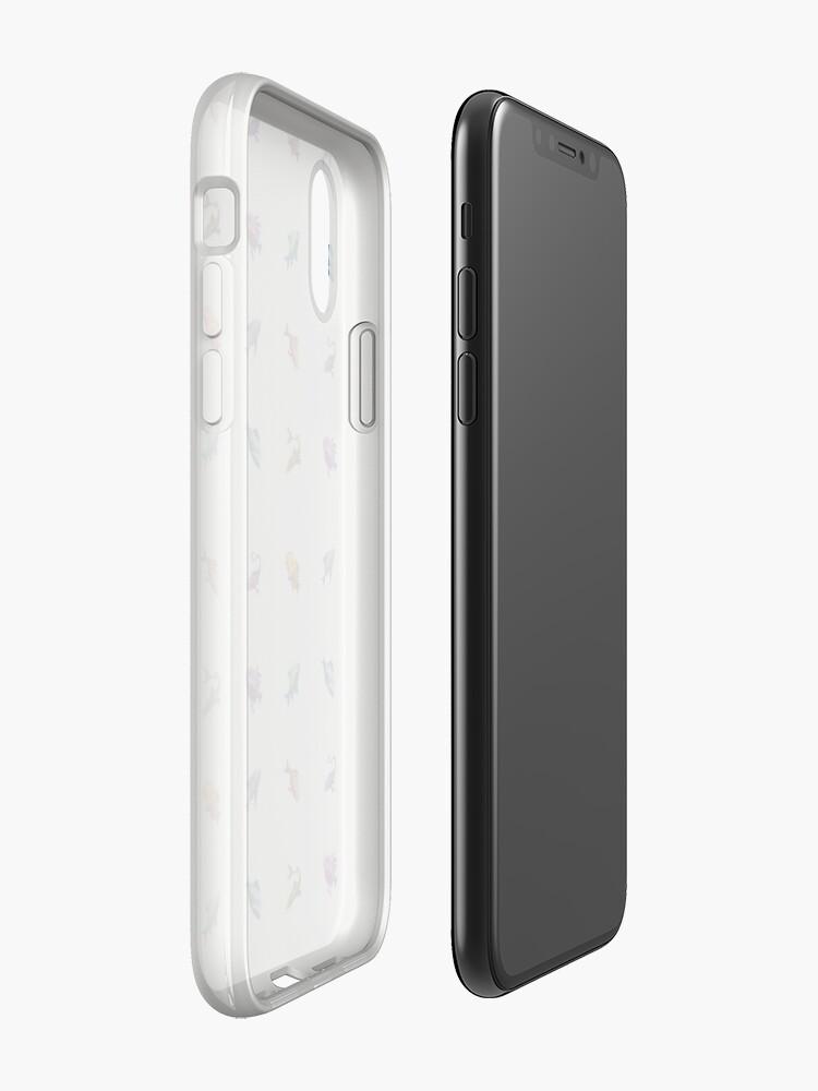 Vista alternativa de Funda y vinilo para iPhone Muchos peces (blanco)