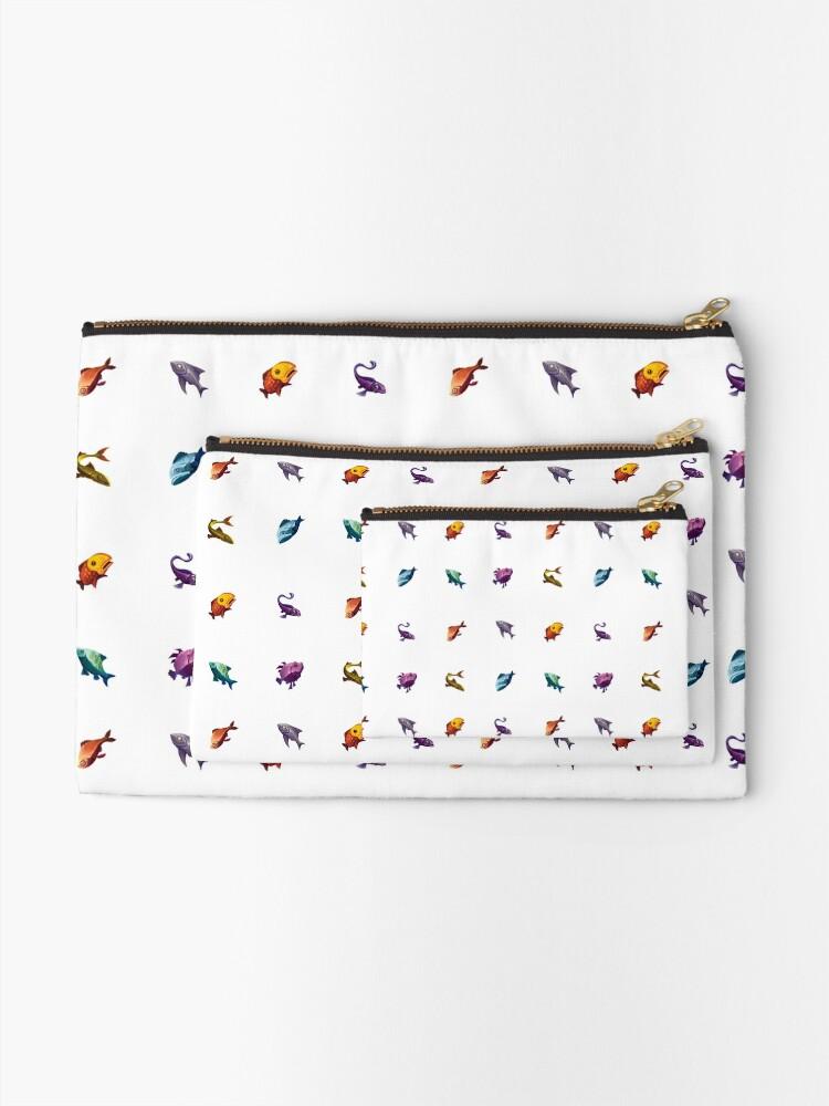 Vista alternativa de Bolsos de mano Muchos peces (blanco)