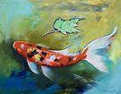Zen Butterfly Koi by Michael Creese