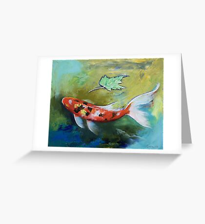 Zen Butterfly Koi Greeting Card