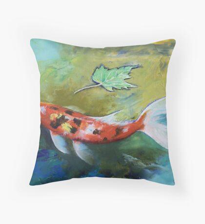 Zen Butterfly Koi Throw Pillow