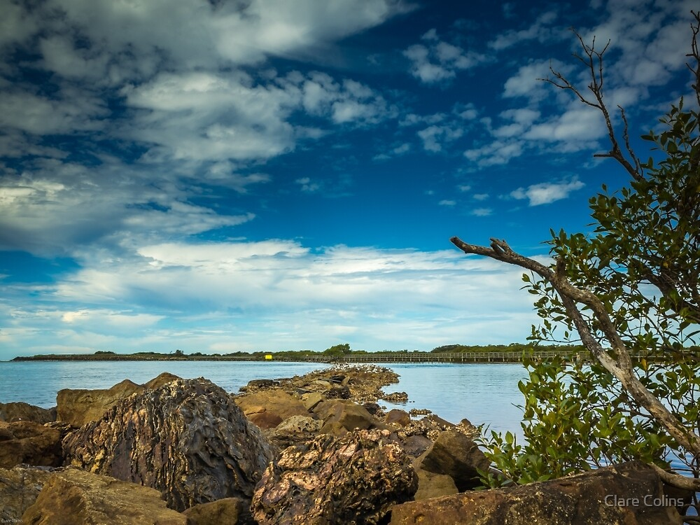 Rock Hopping at Urunga by Clare Colins