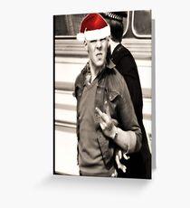 Oi! Santa Greeting Card