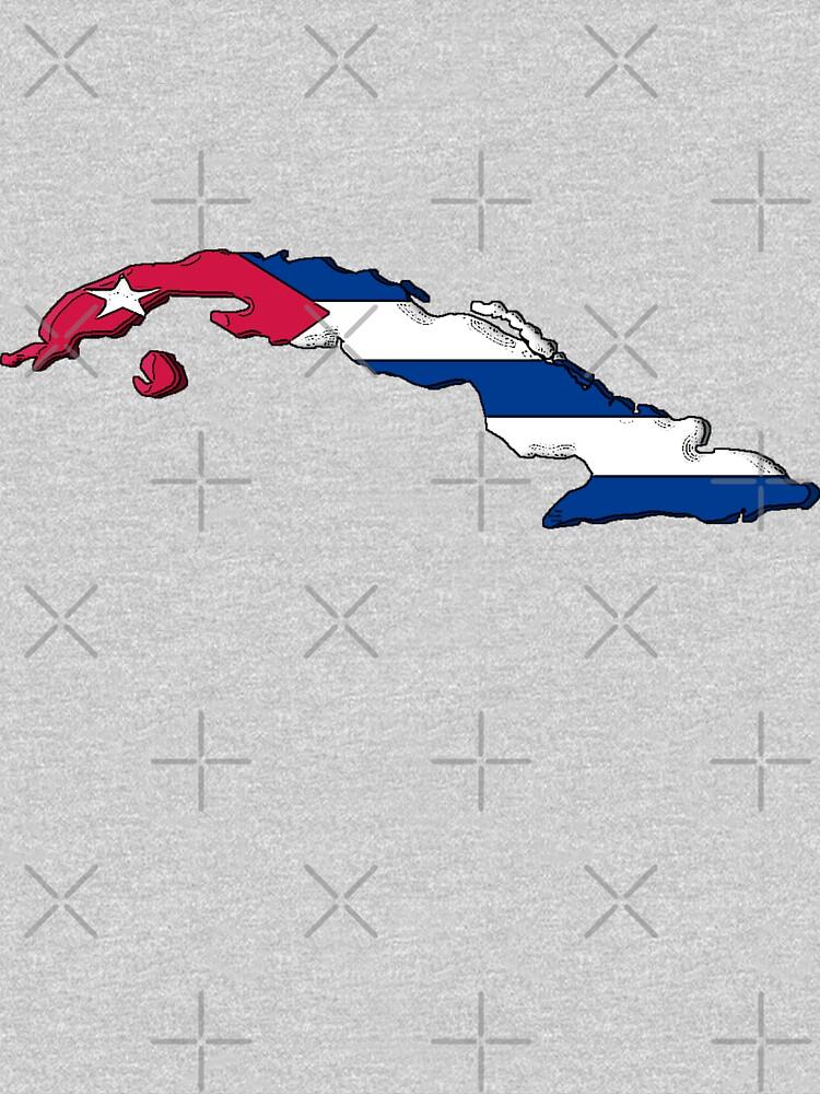 Mapa de Cuba con bandera cubana de Havocgirl