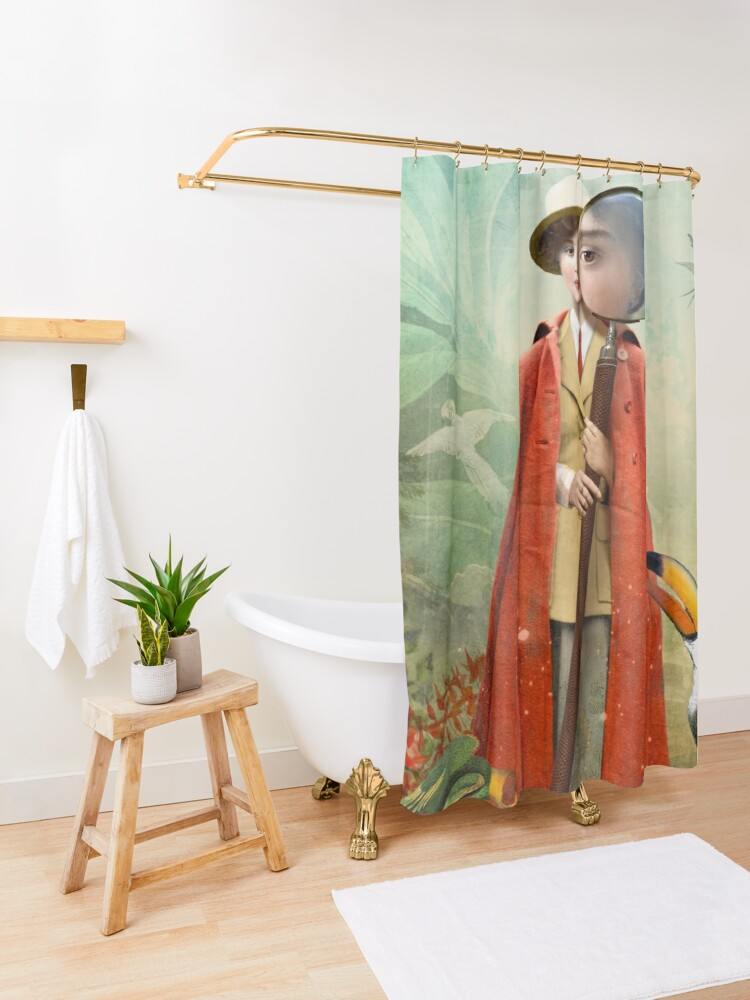 Alternate view of Page of Wands Shower Curtain