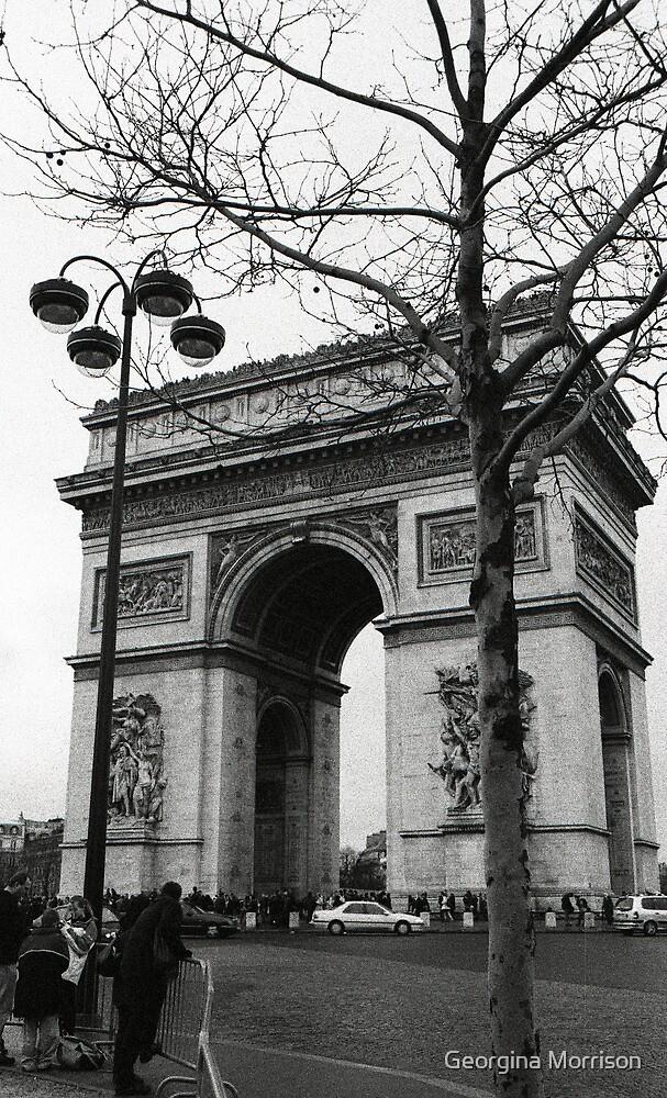 Arc de Triomphe - a winter stroll by Georgina Morrison