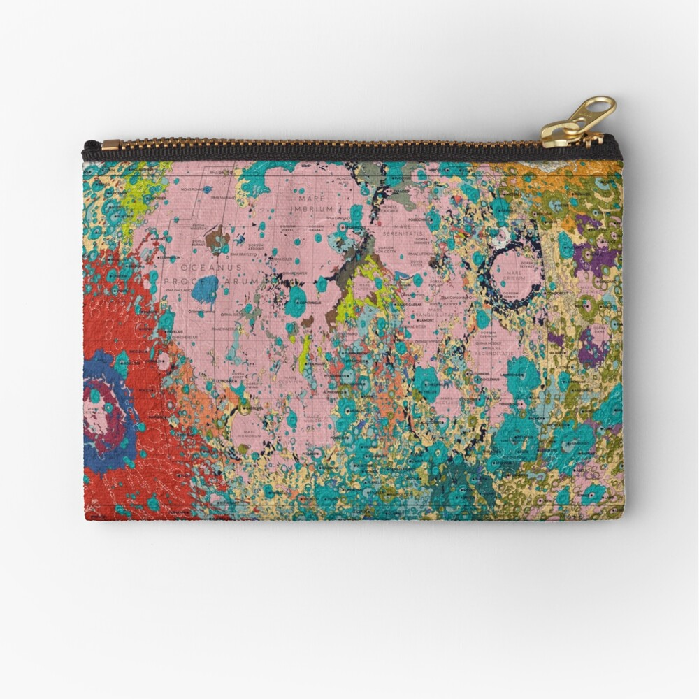 The Geology of the Moon Zipper Pouch