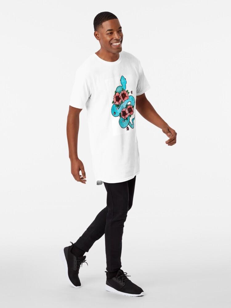 Alternate view of Blue White Lipped Viper Long T-Shirt