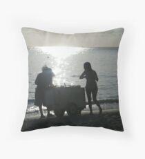 Sun, beach... and ice cream. Throw Pillow