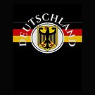 German Eagle with Flag and Deutschland text by edsimoneit