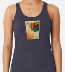 """Flowers in a Vase"" Original by Tony DuPuis Racerback Tank Top"