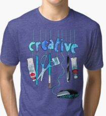 Connected Creative in Blue Tri-blend T-Shirt
