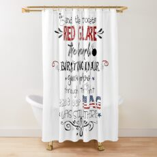 Patriotic National Anthem Doodles Shower Curtain