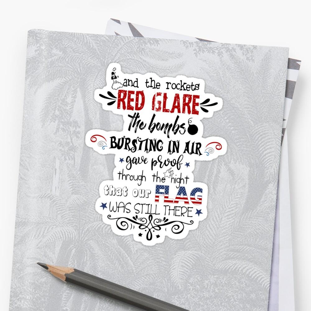 Patriotic National Anthem Doodles Stickers