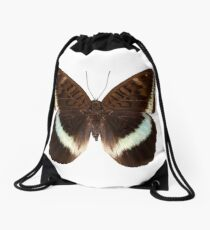 brown Nymphalidae butterfly Drawstring Bag