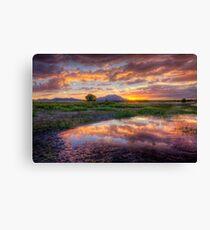 A Rare Sunset Photo by Bob Larson Canvas Print