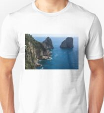Limestone Cliffs and Seastacks - a Capri Island Vacation Unisex T-Shirt