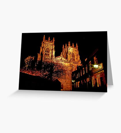 York Minster by Light Greeting Card