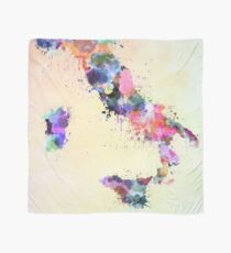 Italy map watercolor style splash Scarf
