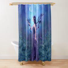 Iridescent Fairy & Dragon Shower Curtain