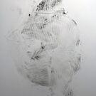 Quand mon Petit Pull Noir... #5 - Monotype Empreinte by Pascale Baud