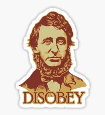 Thoreau Disobey Sticker