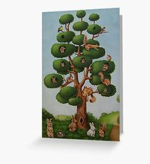 Squirrel Tree Greeting Card