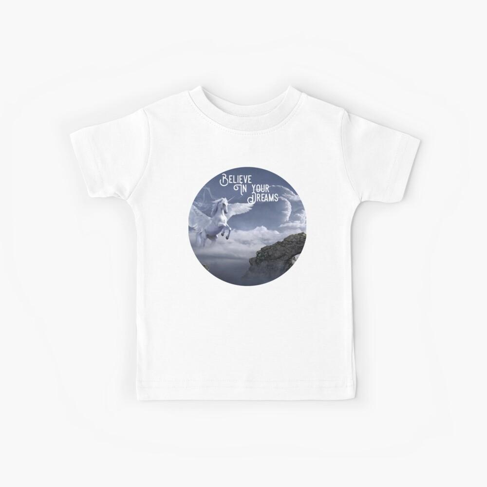 Camisa con alas de unicornio, cree en tus sueños Camiseta para niños