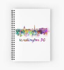 Cuaderno de espiral Horizonte de Washington DC en acuarela