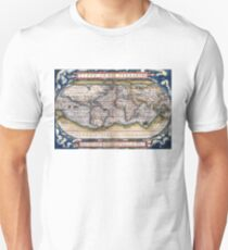 1564 World Map by Ortelius Unisex T-Shirt