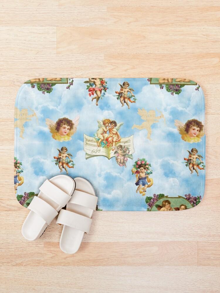 Alternate view of clouds angel cherubs Bath Mat